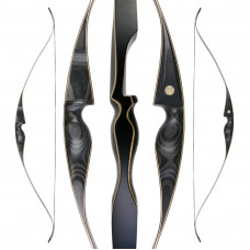 "JACKALOPE - Obsidian - 62"" - On Piece Recurvebow"