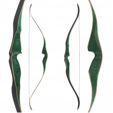 "JACKALOPE - Malachite - 62"" - One Piece Recurvebow"