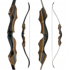 "JACKALOPE - Obsidian - 62"" - Classic Recurvebow Take Down"