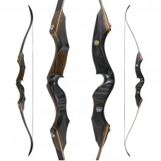 "JACKALOPE - Obsidian - 64"" - Refined Recurvebow Take Down"