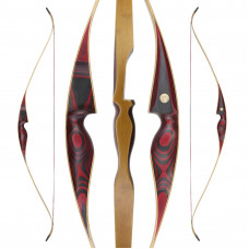 "JACKALOPE - Red Beryl - 64"" - On Piece Recurvebow"