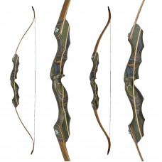 "JACKALOPE - Tourmaline - 64"" - Classic Recurvebow Take Down"