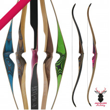 "JACKALOPE - Diamond - 60"" - On piece Recurvebow"