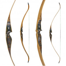 "JACKALOPE - Tourmaline - 64"" - On Piece Recurvebow"